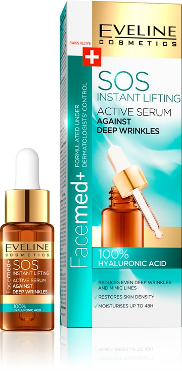 Eveline Facemed Sos Active Serum 100% Hyaluronic Acid 18ml