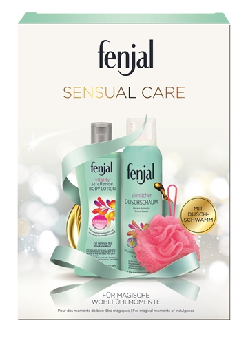 FENJAL SENSUAL CARE Gift box Shower Mousse Vitility 200ml + Lotion Vitility 200ml + nylon badesvamp