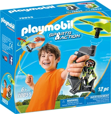 Playmobil Top Agents Pull Cord Flyer 70055