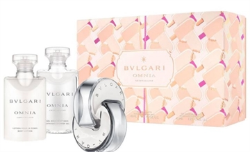 Bvlgari Omnia Crystalline Giftset 120ml EDT Spray 40ml/Bath & Shower Gel 40ml/Body Lotion 40ml