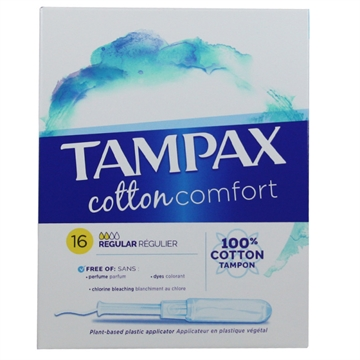 Tampax Cotton Comfort 16' Regular