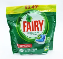 Fairy Dishwasher Tabs Original All In One 17S