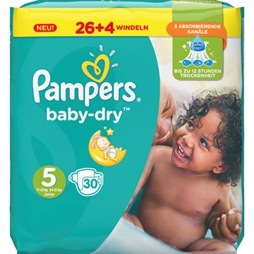 Pampers Baby Dry Size 5 Junior 11-23kg 31 pcs