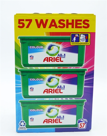 Ariel Colour All In One Pods 57 Wash 57'S