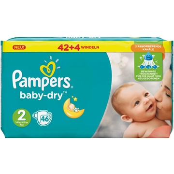 Pampers Baby Dry Size 2 Mini 3-6kg 37 pcs