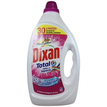 Dixan Gel Detergent 30 Dose 1,500 L Total Plus Color