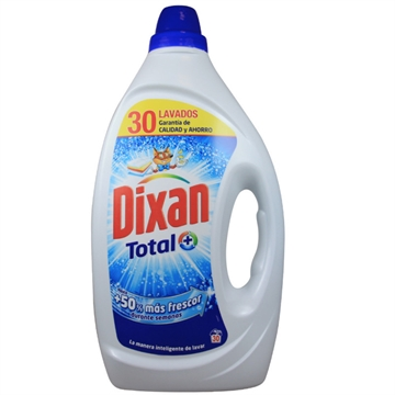 Dixan Gel Detergent 30 Dose 1,500 L Blue Total Gel