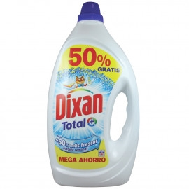 Dixan Gel Detergent 60 Dose 3,000 L Total Plus Color