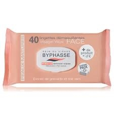 Byphasse Remover Cleansing Wipes 40 U. Pomegranate Extract And Green Tea Mature Skin