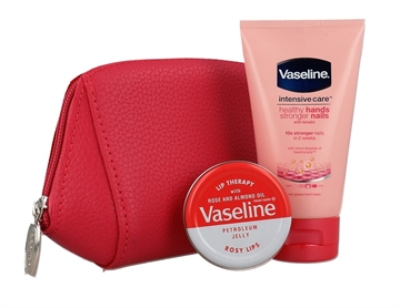 Vaseline Handbag SOS Kit Handcream 75ml and Rosy Lips 20g