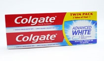 Colgate Toothpaste Advance White 2X75ml