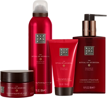 Rituals Ayurveda Set 695ml Body Scrub 125gr/Body Cream 70ml/Shower Gel 200ml/Hand Wash 300ml