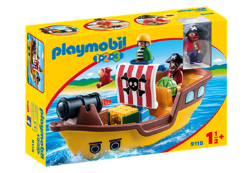 Playmobil 1.2.3 Piratskib 9118