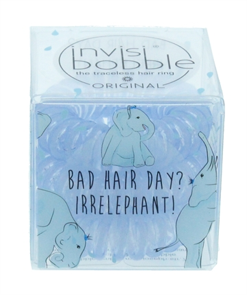 Invisibobble Original Hair Bobbles Bad Hair Day Irrelephant 3Pc