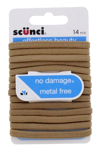 Scunci Flat No Damage Hair Flat Elastie 14Pc