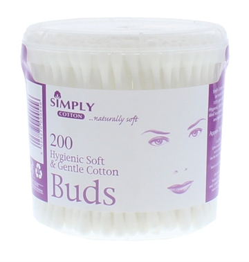 Simply Cotton Buds Tub 200'S