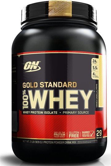 Optimum Nutrition 100 Whey Gold 908g french vanilla crème