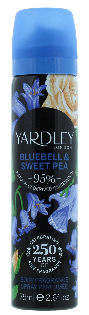 Yardley 75ml Body Spray Bluebell & Sweetpea
