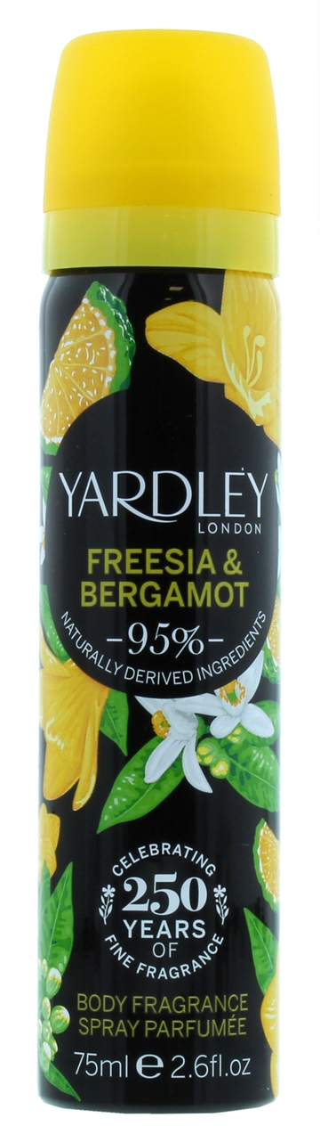 Yardley 75ml Body Spray Freesia & Bergamot