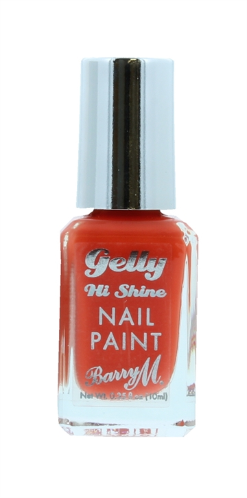 Barry M Gelly Hi Shine 10ml Nail Polish Satsuma