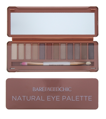 Barefaced Chic Eyeshadow Palette Tin Natural