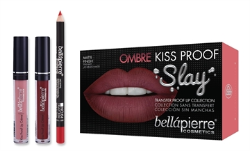 Bellapierre Kiss Proof Slay Lip Kit 40'S Red Ombre 3Pc