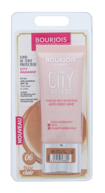 Bourjois City Radiance 30ml Foundation Golden Sun 006 Blister Pack