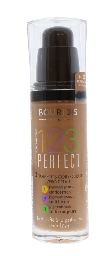 Bourjois 123 Perfect 30ml Foundation Dark Bronze 058