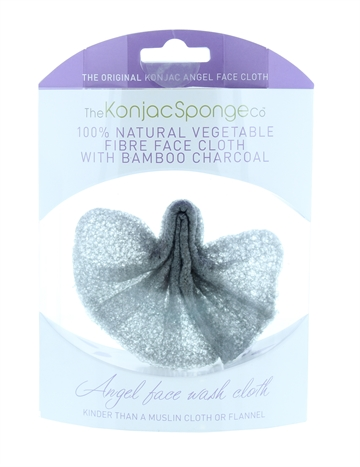 The Konjac Sponge Company Angel Cloth Bamboo Charcoal