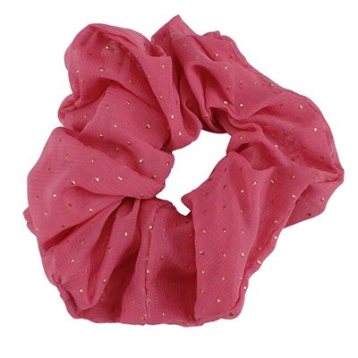 Everneed Scrunchie - pink guld dots