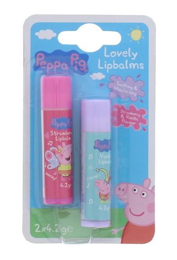 Peppa Pig Lip Balm Strawberry 2Pk