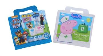 Peppa Pig & Paw Patrol Kids First Aid Kit 40Pc Assorted