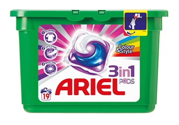 Ariel 3 In 1 Pods Colour 19'S