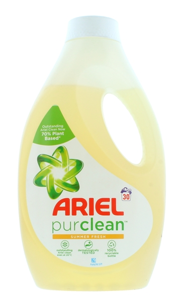 Ariel 1050ml Liquid Purclean Summer Fresh 30 Washes
