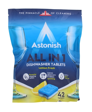 Astonish All In 1 Dishwasher Tablets 42'S Lemon