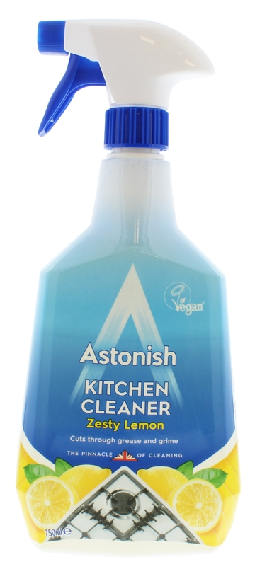 Astonish 750ml Kitchen Cleaner Spray Zesty Lemon