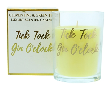 Candlelight 220G Tick Tock Gin O'Clock Gold Scented Boxed Candle