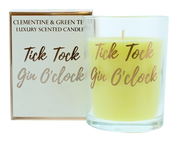 Candlelight 220G Tick Tock Gin O'Clock Rose Gold Scented Boxed Candle