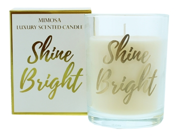 Candlelight 220G Shine Bright Gold Scented Boxed Candle
