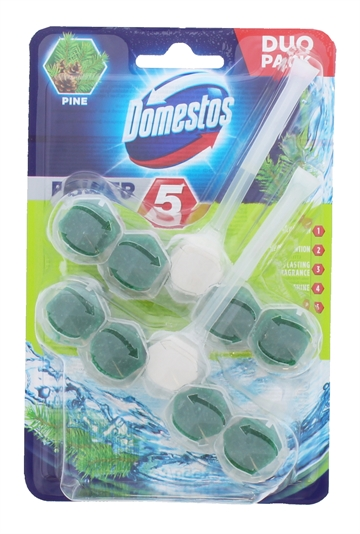 Domestos Toilet Block Pine Lab 2X55G