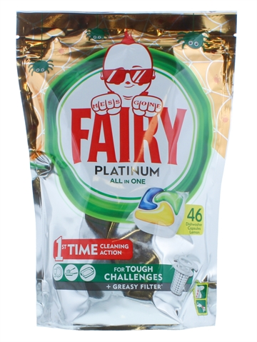 Fairy Platinum All In One Lemon Dishwasher Tabs 46'