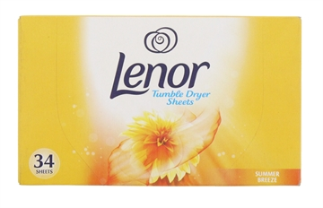 Lenor 34 Pack Tumble Dryer Sheets Summer Breeze