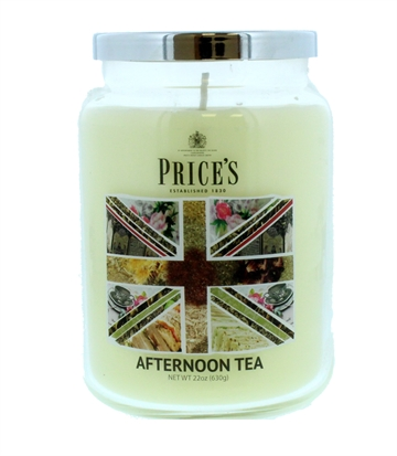Price'S 630G Candle Large Jar Afternoon Tea
