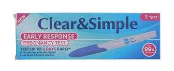 Clear&Simple Early Pregnancy Test