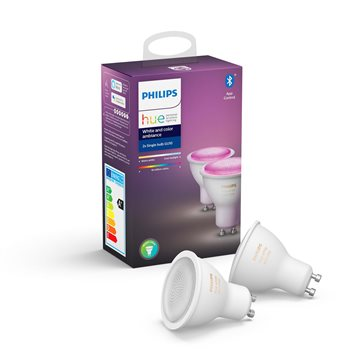 Philips Hue White and Color ambiance GU10 dobbeltpakke