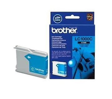 Brother LC1000C Cyan Blækpatron, 400 sider
