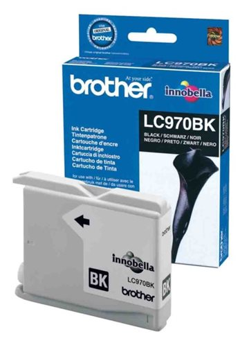Brother LC970BK Sort Blækpatron, 350 sider