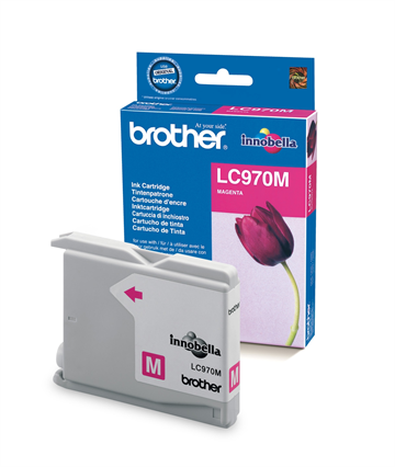 Brother LC970M Magenta Blækpatron, 350 sider