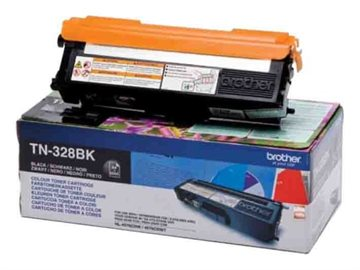 Brother TN-328BK Sort Lasertoner, 6.000 sider
