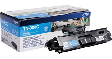 Brother TN900C Cyan Lasertoner, 6000 sider